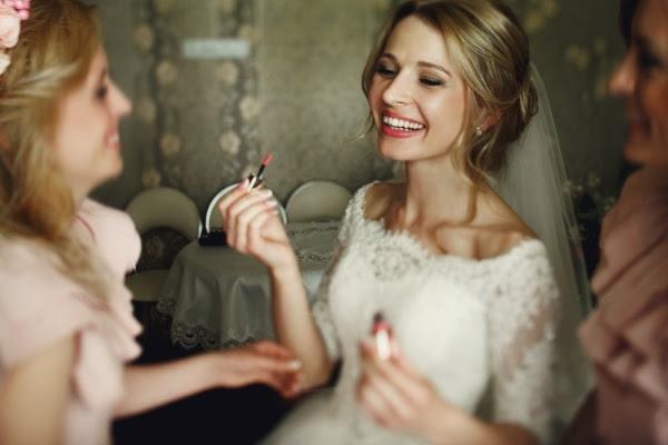 Spot cleaning on wedding dress